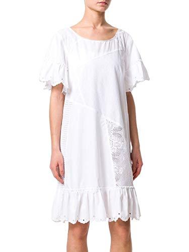 Blanco Vestido Alexander 490878rkc049013 Mujer Mcqueen Algodon YwqBtPvt
