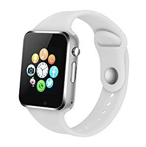 KKCITE Bluetooth Smartwatch for Sporting/Hunting/Swimming,Unlocked Watch Cell Phone for Android iPhone,Samsung Galaxy Note series, Nexcus, HTC etc (White)