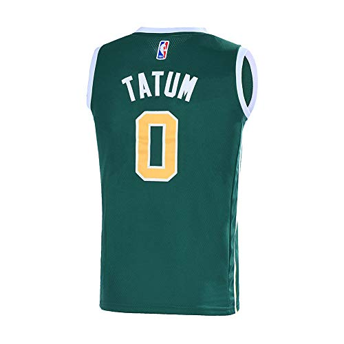 (Outerstuff Youth 8-20 Boston Celtics #0 Jayson Tatum Jersey for Kids (Green/Yellow, Youth X-Large 18-20))