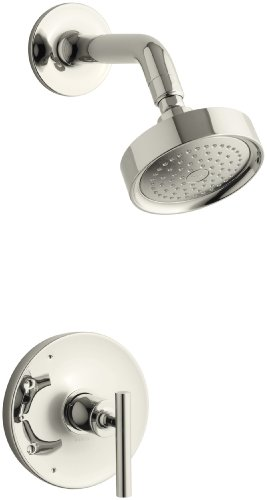 (KOHLER TS14422-4-SN Purist(R) Rite-Temp(R) shower valve trim with lever handle and 2.5 gpm)