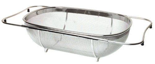 Amazon.com: Norpro Expanding Over The Sink Colander With Base Frame:  Kitchen U0026 Dining