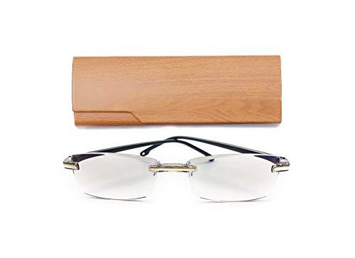 Rimless Reading Glasses Diamond Cut Edge Design Anti Fatigue Blue Light Blocking Computer Readers For Men and Women 3.00         ()