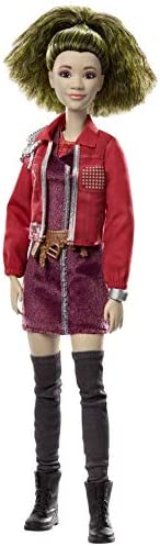 "Zombies Disney's 2, Eliza Doll (11.5-inch) Wearing Grungy-Cool Outfit and Accessories, 11 Bendable ""Joints,"" G"