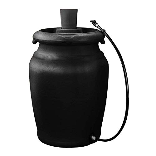 Rain Urn (FCMP Outdoor US4000-BLK Urn Style (Black) Rain Barrel)