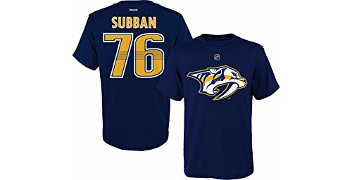 PK Subban Nashville Predators #seventy six Navy Youth Player Name And Number T Shirt – Sports Center Store