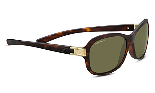 Serengeti Isola Sunglasses, Satin Tortoise Frame/Satin Brass by Serengeti