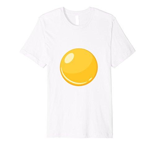 Bacon And Egg Halloween Costume Make (Mens Egg - Bacon & Egg Matching Halloween Costume Shirt Small White)