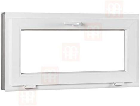 1100x600 mm | wei/ß Kippfenster Kunststofffenster 110x60 cm