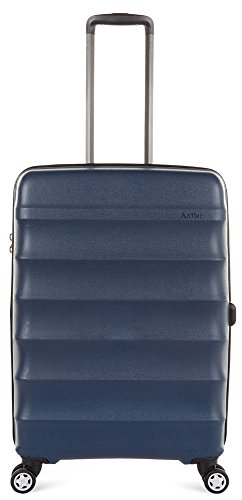 Antler Juno DLX 27'' Expandable Hardside Checked Spinner Luggage (Navy) by Antler