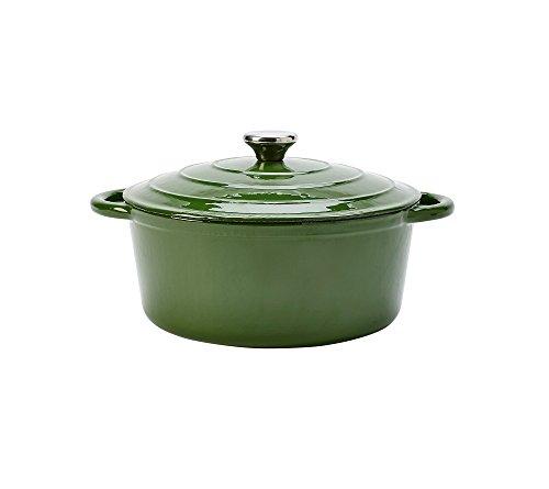 Chef's Quarters 5-Qt. Cast-Iron Dutch Oven Dark Green