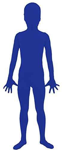 VSVO Kids Blue 2nd Skin Full Body Zentai Supersuit Costumes (Large, Blue) (Superman Leotard)