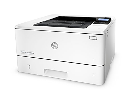 HP LaserJet Pro M402dw Wireless Laser Printer with Double-Sided Printing, Amazon Dash Replenishment ready (C5F95A) 2 FEATURES DESIGNED FOR YOUR BUSINESS: Monochrome laser printer, 2-line display with keypad, wireless printing, duplex printing FAST PRINT SPEED: print up to 40 pages per minute. First page out in as fast as 6.4 seconds. SOLID SECURITY: Keep printing safe from boot up to shutdown with security features that guard against complex threats.