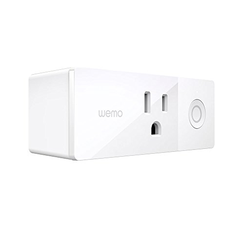 Wemo Mini Smart Plug, Wi-Fi Enabled, Works with Amazon Alexa