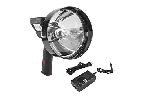 Larson Electronics 5 Million Candlepower Handheld Rechargeable Spotlight - 100W Halogen - 5 Inch Lens ()