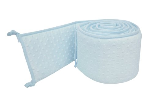 Dot Cotton Chenille Fabric - American Baby Company Heavenly Soft Minky Dot Crib Bumper, Blue Puff, for Boys and Girls
