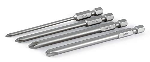 Wiha 76094 Phillips #0#1#2#3 Power Blade Set, 90mm Long Bits