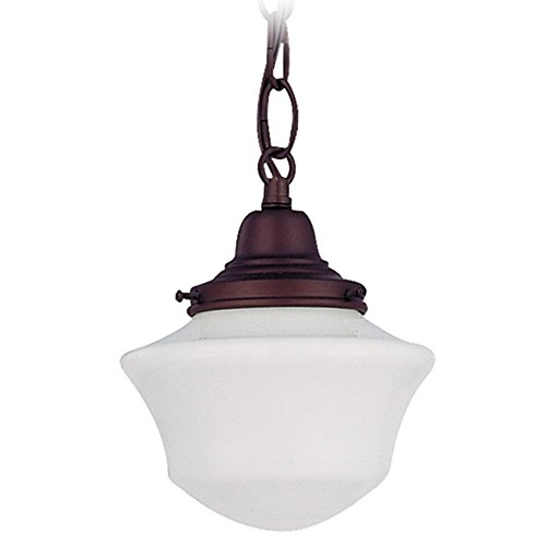 6-Inch Schoolhouse Mini-Pendant Light in Bronze Finish with Chain (Bronze Lighting Classic)
