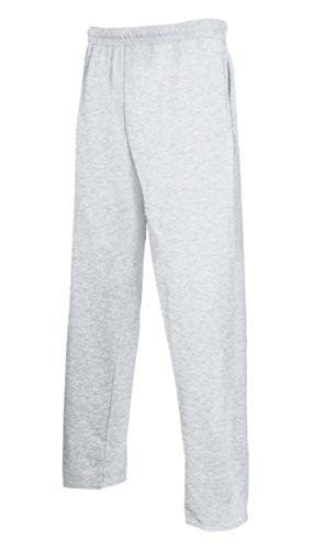 Pants Open Loom Hem Jogging Grey Training Sport Hombre Lightweight Fruit Of Jog The Heather Pantalones S7qwRCn