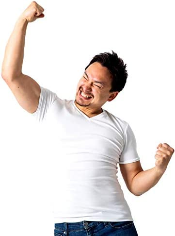 [ティンバーホーム] ヘビーオンス Tシャツ メンズ Vネック 無地 半袖 タイト フィット ワイルドヘビーTシャツ