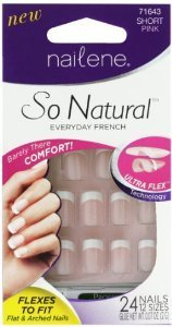 Perfect Nail French (Nailene So Natural Ultra Flex Pink French Short Nails (Pack of 2))