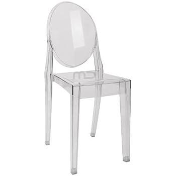 Amazon Com Louis Ghost Side Chair Transparent Acrylic