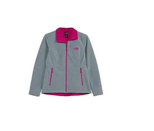The North Face Women's Apex Bionic Jacket Mid Grey/Luminous Pink Size Medium