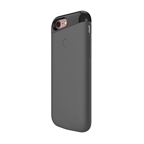 Dual SIM Adapter Extended Battery Case for iPhone 7 (Grey)