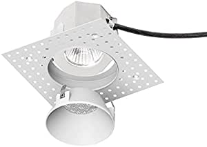 Wac Lighting R3ardl F827 Wt Aether Round Invisible Trim With Led Light Engine Flood 40 Beam 2700k Warm White