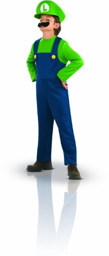 Kids Costumes From The 80s (Super Mario Brothers, Luigi Costume, Medium)
