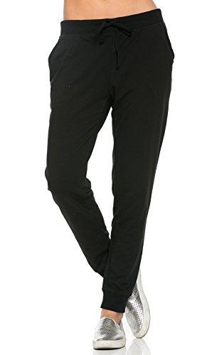 Classic Black Drawstring Pants - 1