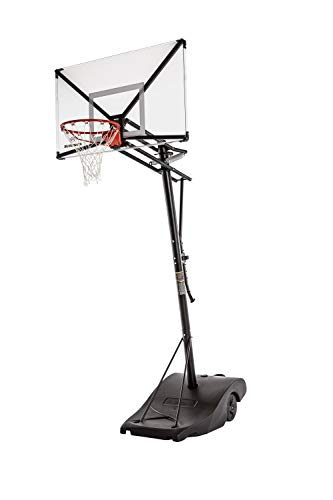 "Silverback NXT 54"" Backboard Portable Height-Adjustable Basketball Hoop Assembles in 90 Minutes"