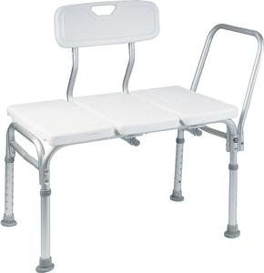 - BATHTUB TRANSFER BENCH / BATH CHAIR WITH BACK, WIDE SEAT, ADJUSTABLE SEAT HEIGHT, SURE-GRIPED LEGS, LIGHTWEIGHT, DURABLE