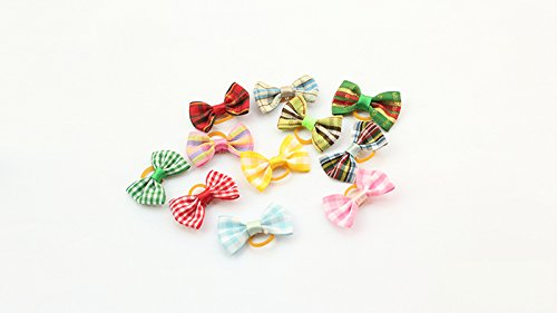 Roto-100-Pcs-of-Lovely-Handmade-Accessories-for-Pet-Dogs-Flower-Little-Bows-Dog-Bow-Grooming-Supplies