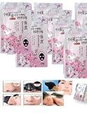 10 Packs of Rolanjona Black Sakura Flower Whitening Facial Mask 250g. (Remove Blackhead +Whitening Plus +Reduce Ance Scar.) Free Gift: Epistick Epilator Facial Face Hair Free Remover Stick