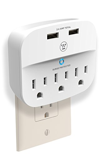 Westinghouse 3-Outlet 2 USB Wall Surge Adapter