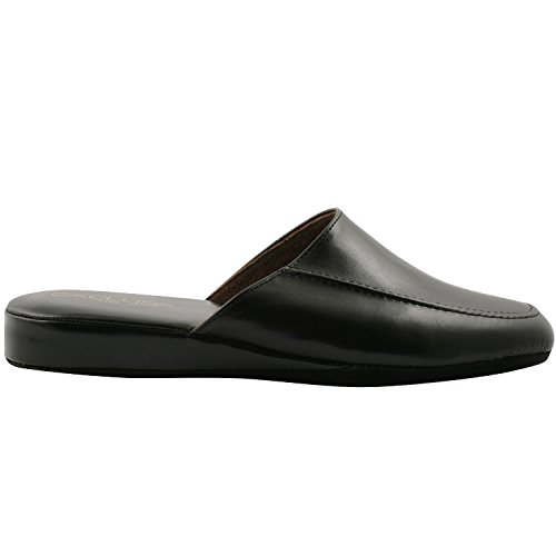 Exclusif Paris Relax 44, Chaussons Simili Cuir Noir Taille 44