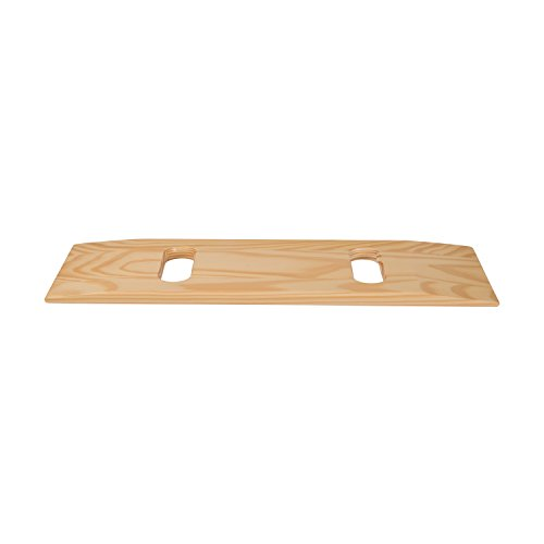 DMI Deluxe Wood Transfer Board Patient Slide Board, 8 x 24 with Two Cutouts, Compact Size, Supports 440lb, Southern Yellow Pine by Duro-Med (Image #2)