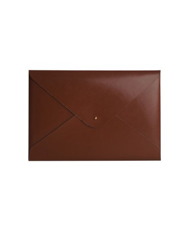 Paperthinks 9 x 13-Inches Shiny Tan Recycled Leather File Folder (PT00946)