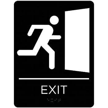 Amazon.com: Londres Productos de salud Exit Sign – Ada ...