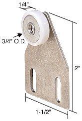 Package Door Roller Shower Assembly (CRL 3/4