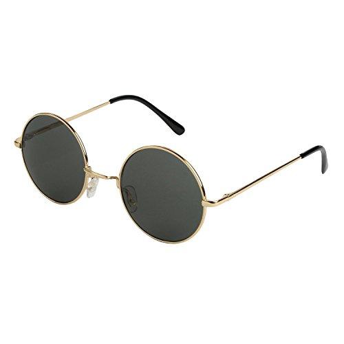 Mechaly Classic Style Unisex Sunglasses - Choose Your Design (Lennon Gold, Dark Green)