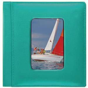 RODEO TURQUOISE pebble grain leather #169 window 2-up album by Raika® - 4x6