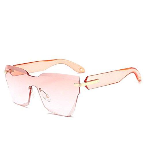 Marco Resina De Una UV400 Unisex Cristal Nuevo Pieza amp;HA Outdoor Cuadradas Transparentorange Hombres Y De Gafas Extragrandes Gafas De Lente Sin Sol Corte De Transparentorange Escudo Mujeres De Z OwPq8