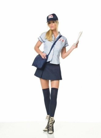 Mail Delivery Girl Adult Costume