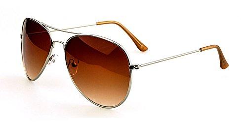 Marrons pour Lunettes de aviateur Métalique métal design soleil en hommes Verres Monture retro q7OZ7w