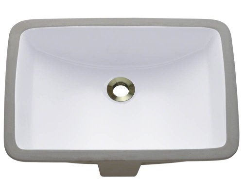 U1913-White Undermount Porcelain Bathroom Sink, Sink Only