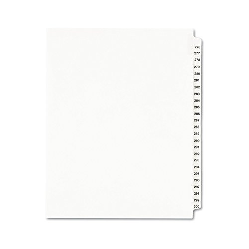 Avery Legal Dividers, Standard Collated Sets, Letter Size, Side Tabs, 276-300 (01341)