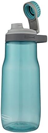 Rubbermaid Garrafa de água Chug à prova de vazamento, 947 ml, Aqua Waters