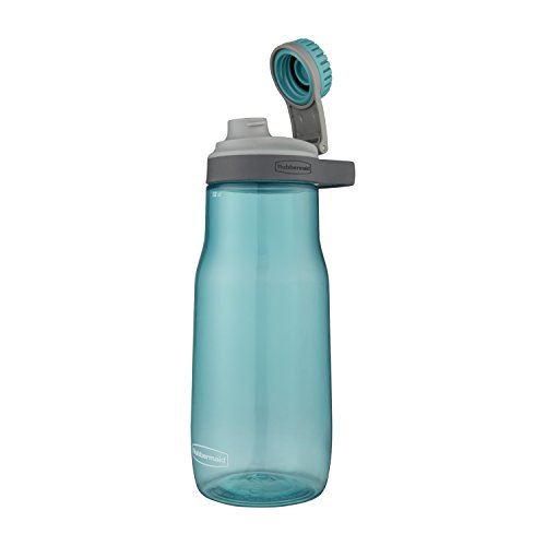 Rubbermaid Leak-Proof Chug Water Bottle, 32 oz, Aqua Waters ()