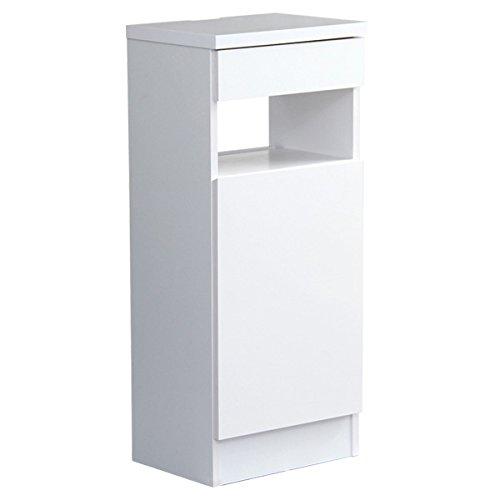 充実の収納力!ファックス台【Cassata-カッサータ-】(幅39cmタイプ)ホワイト B00N1P08HG  ホワイト